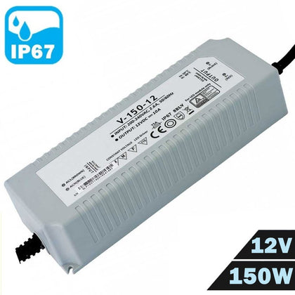 Fuente Alimentación LED IP67 Estanca 12V 150W