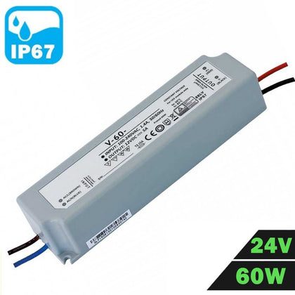 Fuente Alimentación LED IP67 Estanca 24V 60W