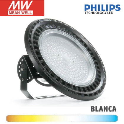 Campana LED UFO 200W Chip Philips Driver Meanwell PRO