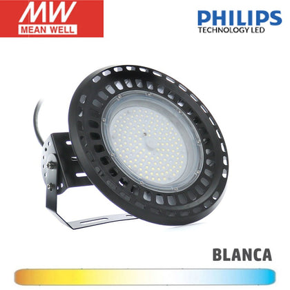 Campana LED UFO 100W Chip Philips Driver Meanwell PRO
