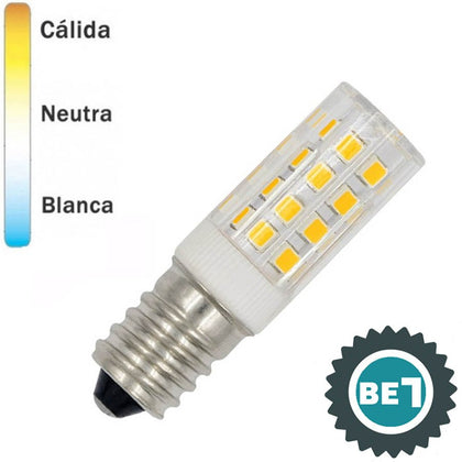 Bombilla LED E14 Pebetero Transparente 4W