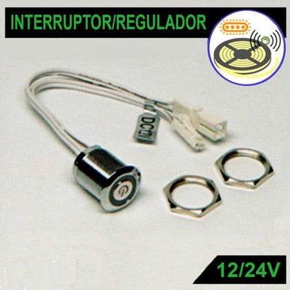 Interruptor Regulador Táctil Tiras LED DC12V / 24V 4A