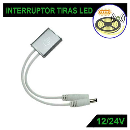 Interruptor Regulador Táctil Tiras LED DC12V/24V 6A
