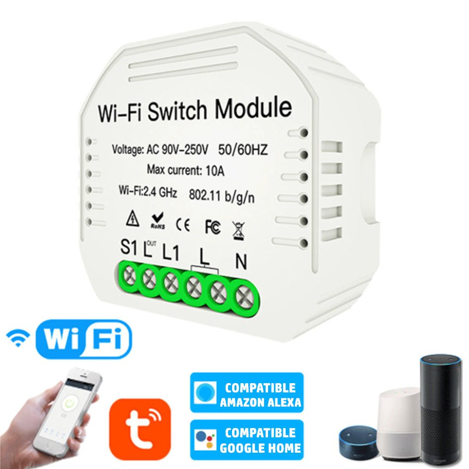 Interruptor LED WIFI APP Pastilla ON / OFF 2 X 150W