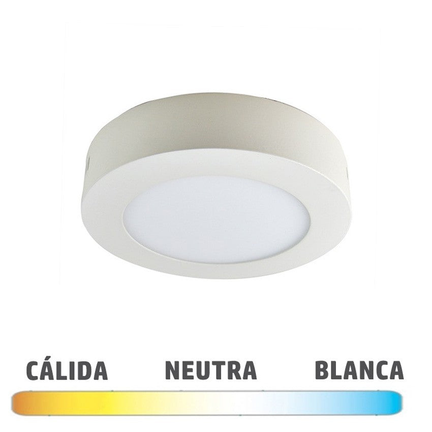 Plafón Superficie LED Blanco 12W 170mm