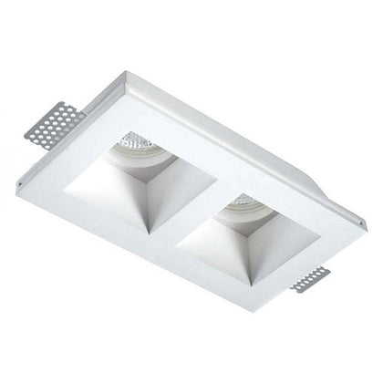 Empotrable Escayola Rectangular 2 Luces GU10