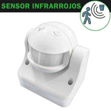 Detector Movimiento Superficie Blanco Ajustable