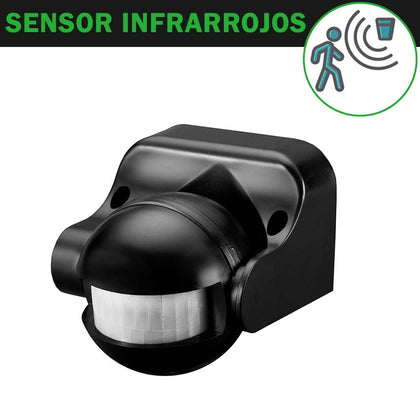 Detector de Movimiento Superficie Negro Ajustable