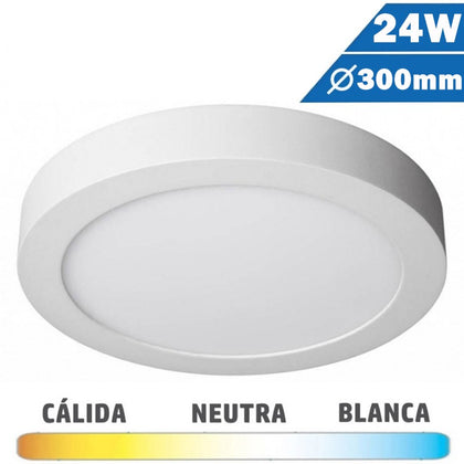 Plafón LED Blanco 24W 300mm Redondo