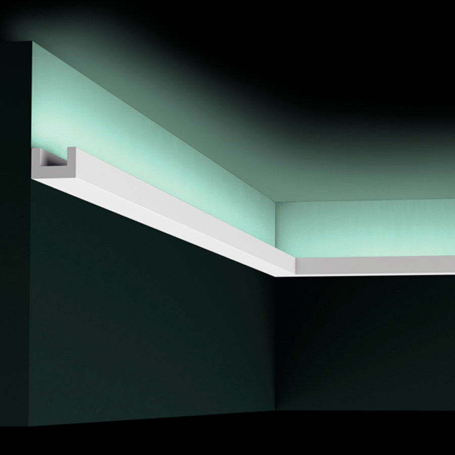 Moldura CX190 U Profile 200 x 2 x 3 cm Luz Indirecta (En Stock)