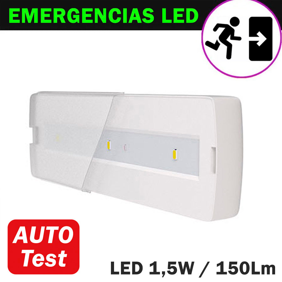 Emergencia LED 1,5W 150Lm Auto Test