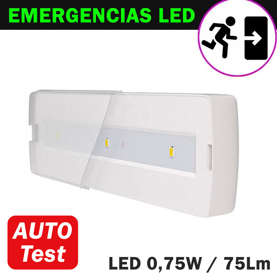 Emergencia LED 0,75W 75Lm Auto Test