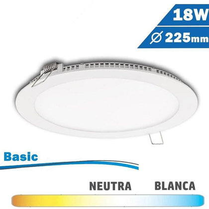 Panel LED Redondo Blanco 18W Basic ECO
