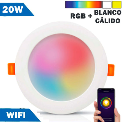 Panel Downlight LED Smart WIFI 20W RGB - 2700K a 6000K