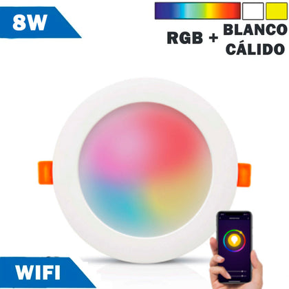 Panel Downlight LED Smart WIFI 8W RGB - 2700K a 6000K