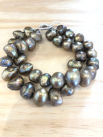Organic Potato Pearl Bracelet with Sterling Toggle Clasp