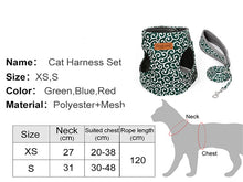 Load image into Gallery viewer, Cat Vest Harness Leash Set - Breathable Vest Harness For Cats