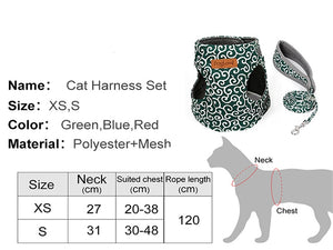 Cat Vest Harness Leash Set - Breathable Vest Harness For Cats