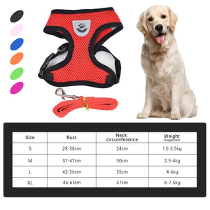 Mesh Small Pet Harness And Leash Set