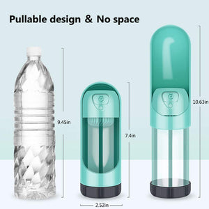 Portable Pet Dog Water Bottle Drinking Bottle / Bowl with Carbon Filter