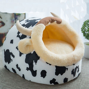 High Quality Washable Foldable Cat House Warm Soft Cute Winter Pet Dog Cat Bed Kennel Nest For Small Medium Cat Dogs