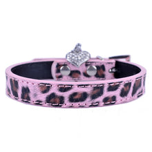 Load image into Gallery viewer, Fashionable Leopard Leather Dog Collar