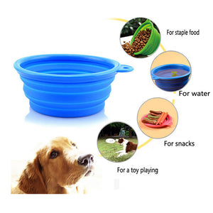 Dog or Cat Three Folding 15oz Food & Water Bowls