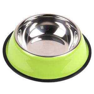 Stainless Steel Pets Dog Water Bowl Travel Food / Water Bowls