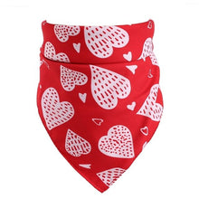 Load image into Gallery viewer, Dog Bandanas Pet Couple Scarf Pet Bandana For Dog Cotton Love Heart Printed Bow Ties Collar Washable Scarf Dog