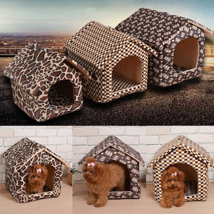Pet Dog House Style Bed