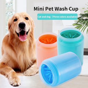 Portable Dog Paw Cleaner Cup Pet Feet Washer Cat Dirty Paw Cleaning Cup Soft Silicone Pet Foot Wash Tool for Small Large Dogs