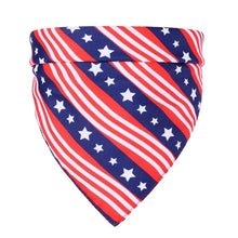 Load image into Gallery viewer, NEW 5 Style 4th Of July Independence Day Dog Bandana Scarf Dog Triangular Neckerchief Bib Bandana Pet Dog Grooming Accessories