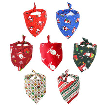 Load image into Gallery viewer, Pet Dog Bandana Large Pet Scarf Christmas Pet Costume Stylish Bibs Kerchief Accessories For Small Medium Large Dogs Cats Access