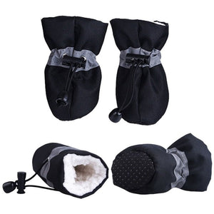 4 Piece Set - Winter Booties - Breathable, Waterproof, Non Slip & Toasty Warm