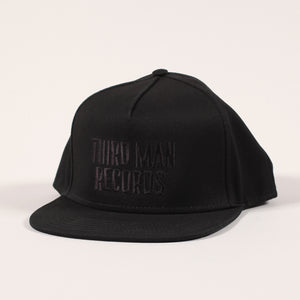 Black on Black Flat Bill Hat