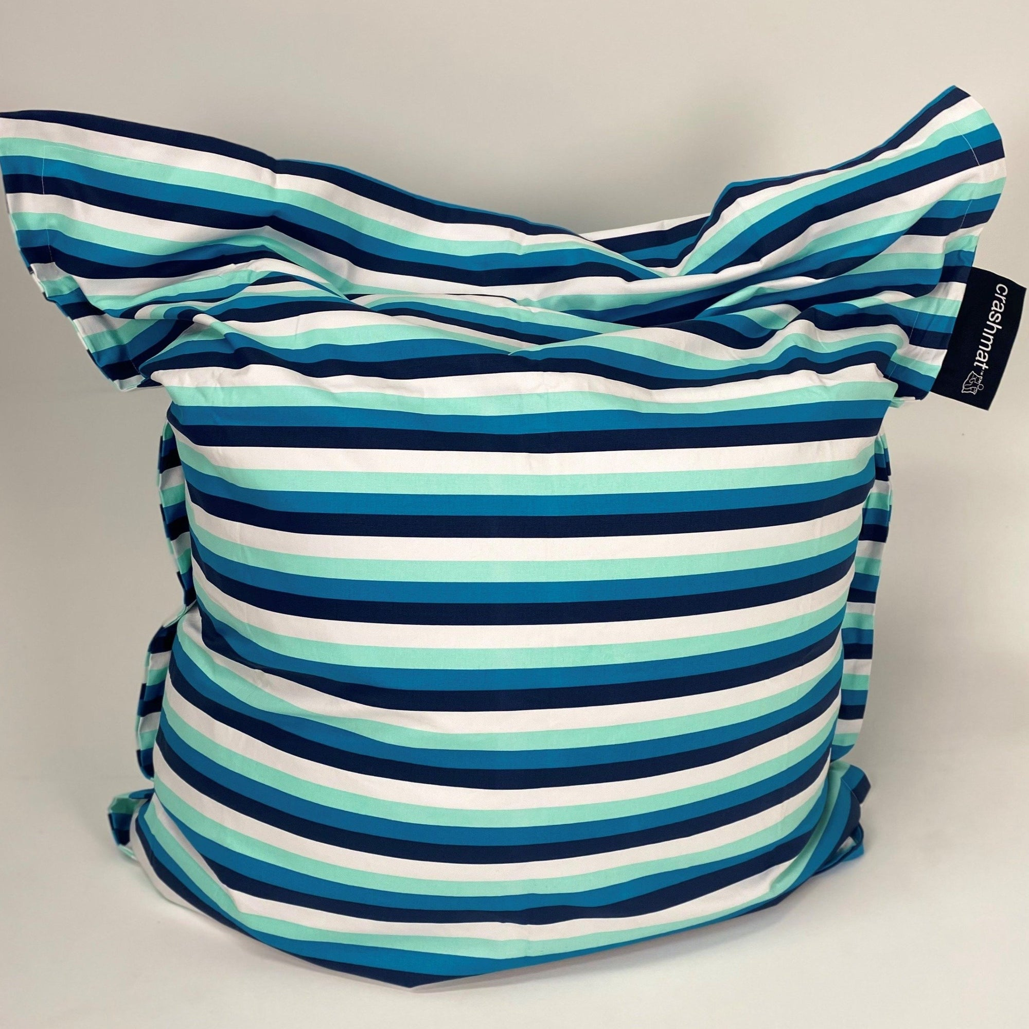 blue stripe beanbag
