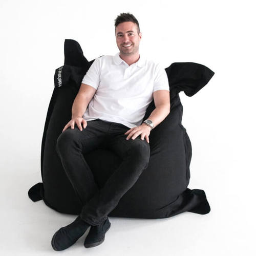 Black Beanbag Crashmat