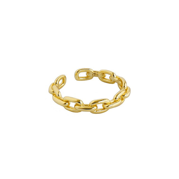 Chain Gold Ring - Bizoux Sterling