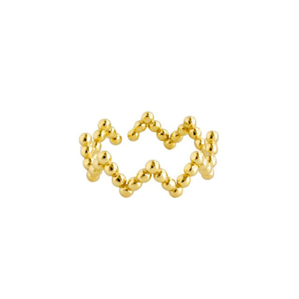 Gold Crown Ring - Bizoux Sterling