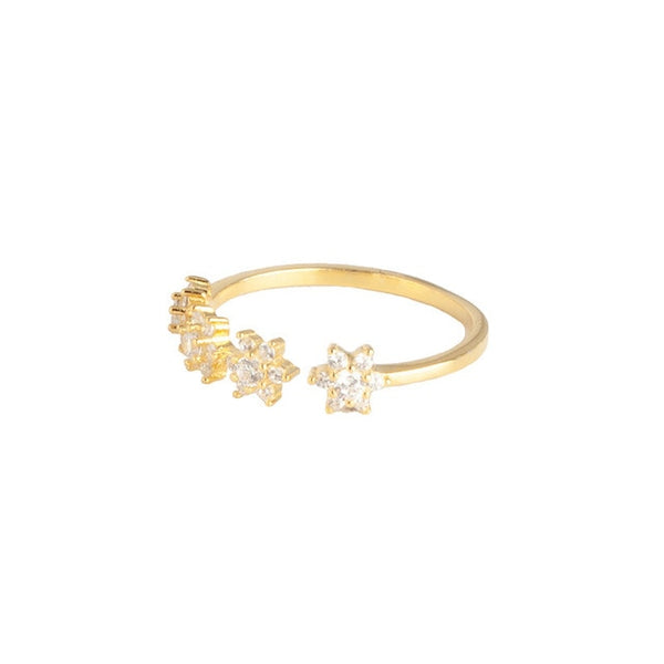 Flower Gold Ring - Bizoux Sterling