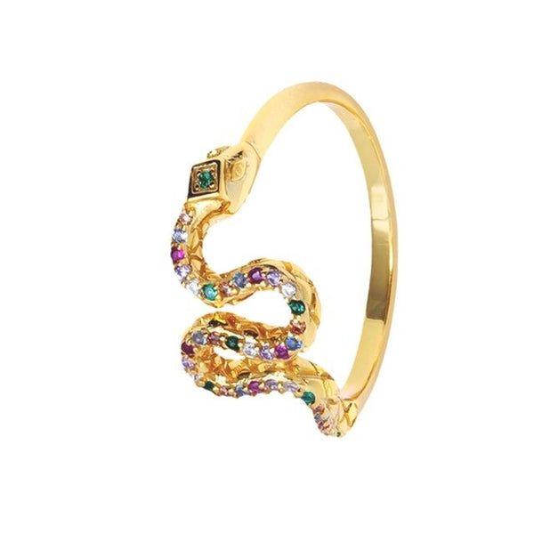 Multicolor Snake Ring - Bizoux Sterling