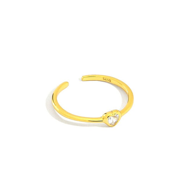 Gold Heart Ring - Bizoux Sterling