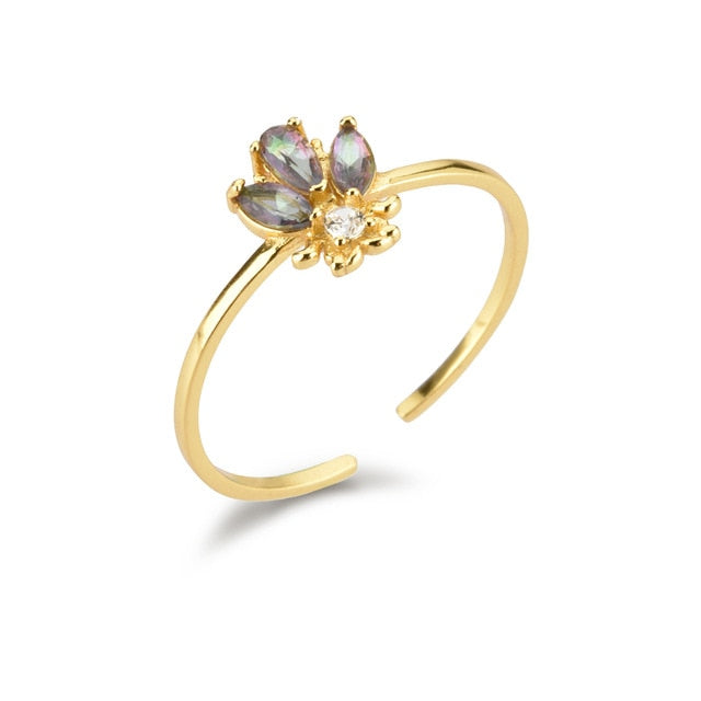 Queen Bee Gold Ring - Bizoux Sterling
