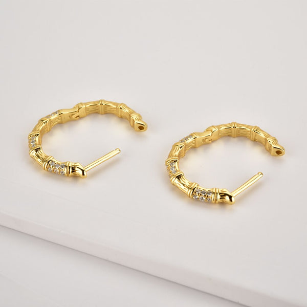 Grand Gold Crystal Hoops - Bizoux Sterling