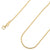 925 Sterling Silver 2mm Moon Cut Bead Ball Gold Plated Chain
