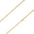 14K Yellow Gold 1.5mm Diamond Cut Rope Chain