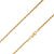 925 Sterling Silver 2.5mm Solid  Rope Diamond Cut Gold Plated Chain