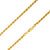 925 Sterling Silver 3.2mm Solid  Rope Diamond Cut Gold Plated Chain