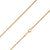 925 Sterling Silver 2mm Solid  Rope Diamond Cut Gold Plated Chain