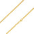 925 Sterling Silver 3mm Moon Cut Bead Ball Gold Plated Chain